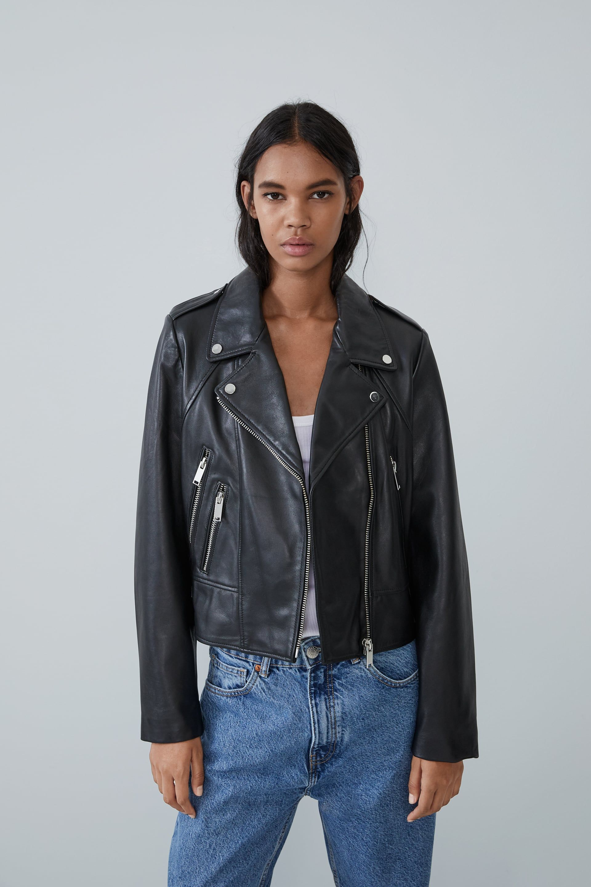 Leather biker jacket in 2020 Jackets, Leather jacket