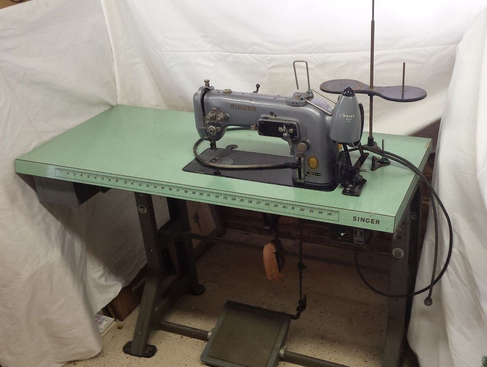 Singer 307 G2 Commercial Sewing Machine Green Table Industrial Machine Sewing Machine Industrial Machine Machine