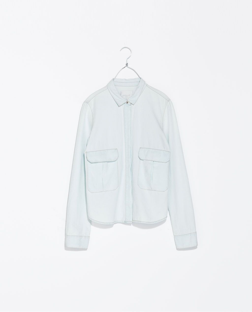 ZARA - TRF - CAMISA DENIM CROP