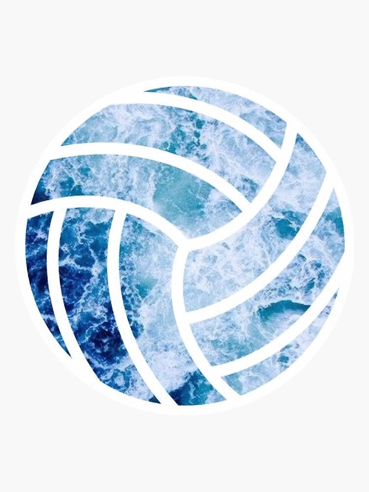 Volleyball Ocean Sticker By Sluggishsloth In 2020 Volleyball Wallpaper Volleyball Drawing Volleyball Pictures