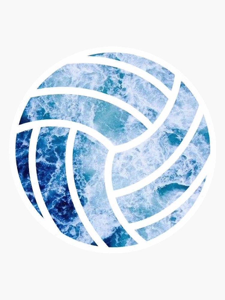 Volleyball Ocean Sticker By Sluggishsloth Volleyball Wallpaper Volleyball Drawing Volleyball Pictures