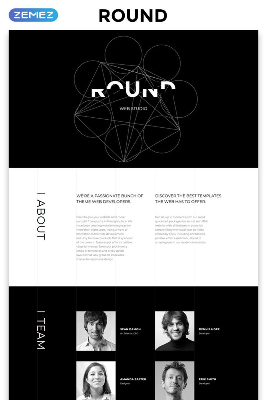 Round Html Template Web Development Design Web Design Black Graphic Design Resume
