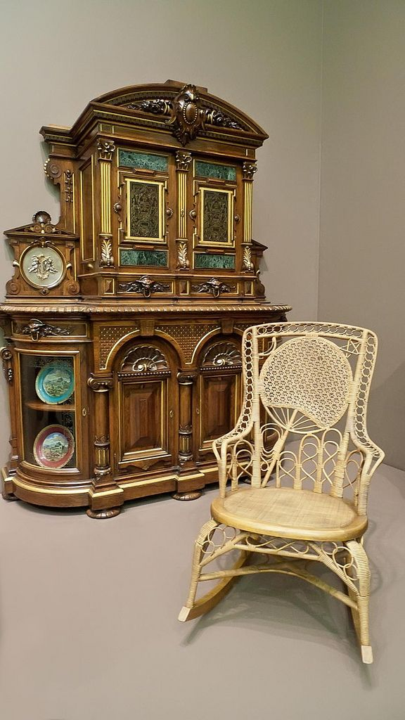 Rocking Armchair Made By Heywood Brothers And Company Of Massachusetts  1870 1875 CE Maple Chesnut