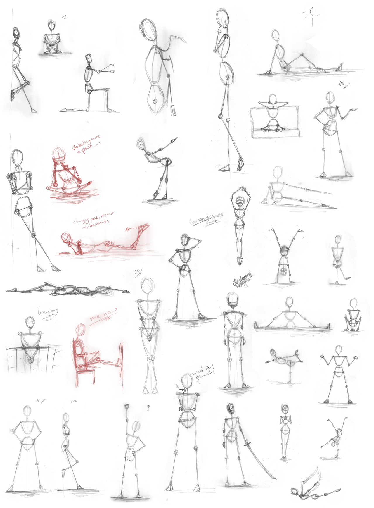 Pose Practice Stick Figures By Iduna Haya In