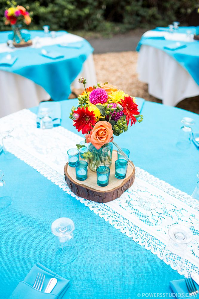 bright centerpieces rustic lace aqua blue wedding reception rh pinterest com Mint Green Wedding Centerpieces Fresh White Wedding Flower Centerpieces