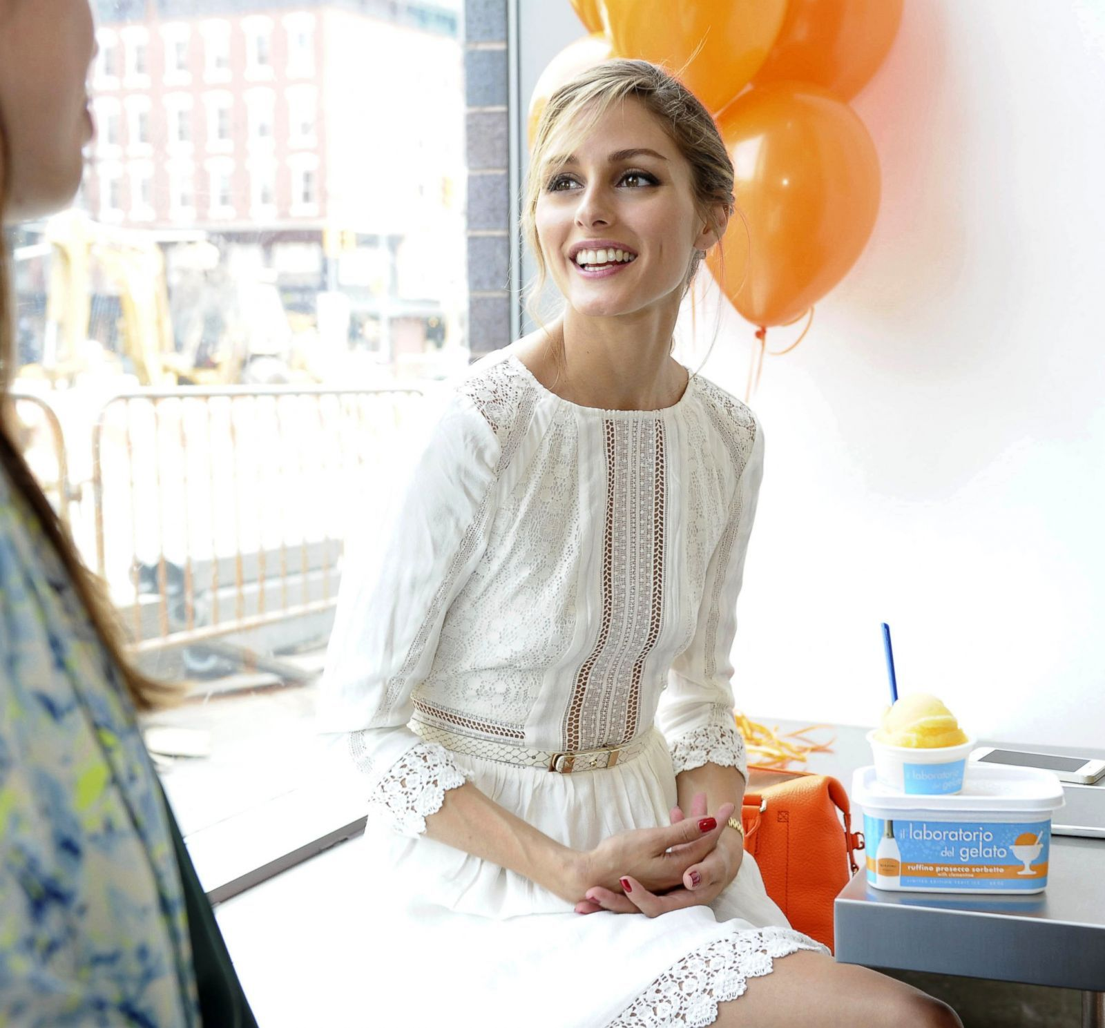 olivia palermo in perfect summer white dress | lace white