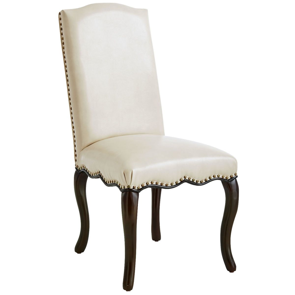 Claudine Ivory Dining Chair  Ivory Classic Elegance And Nailhead New Ivory Dining Room Set Decorating Inspiration