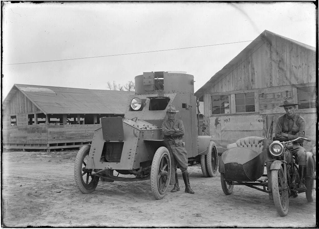Armored Car In 1918 At The South Texas Border Hmmm An Idea Whose Time Has Come Again Texas History American Military History Texas Mexico Border