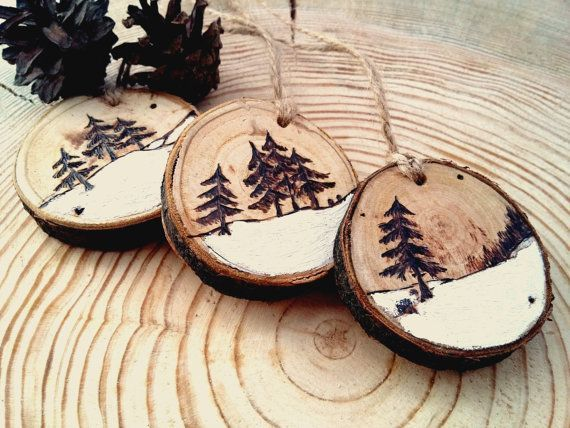 Christmas tree decor, Christmas toys, Rustic Christmas Decor, Modern Christmas, Wooden Christmas Decor, Christmas set, Set of Three, Wooden #christmasdecor