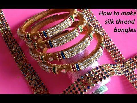 261207e9860 Transform your Old Metal Bangles into Stone BANGLES  Ball Chain Bangles  Silk  Thread Bangles - YouTube