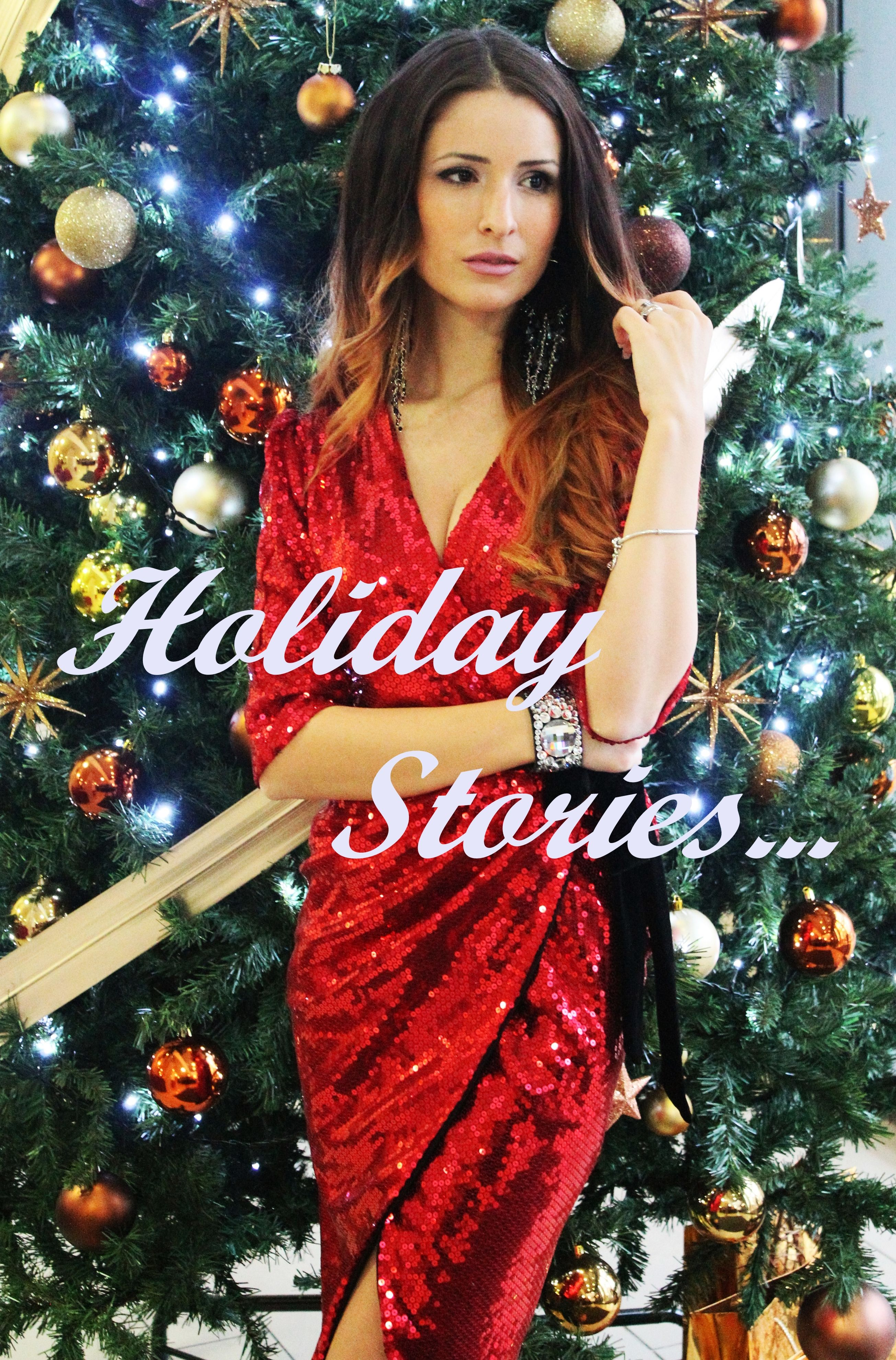holiday look, holiday stories, holiday ootd, sparkle look, fashion, statement dress, christmas look, blogger