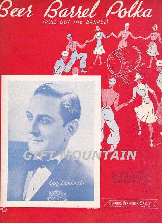 Vintage Sheet Music Beer Barrel Polka Guy Lombardo FREE #vintagesheetmusic