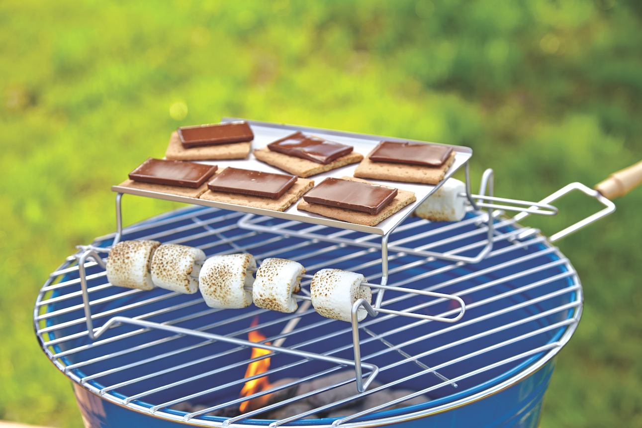 Nonstick S'mores Grilling set via Cost Plus World Market >> #WorldMarket Camping Ideas, Outdoor, Glamping, Smores, Tips