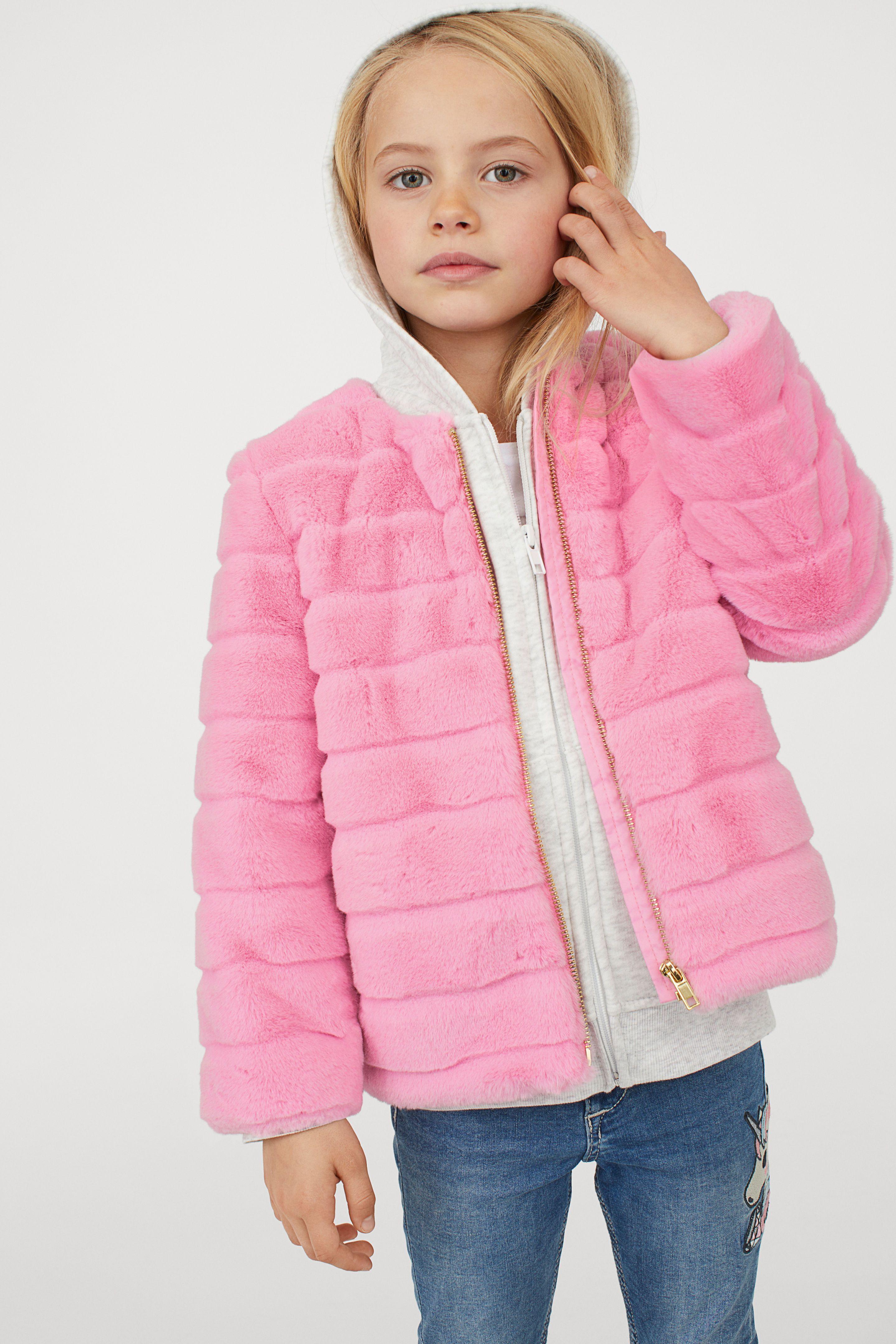 Pink Fur H&M Kids 2018 Jackets, Kids vest, Girl outfits