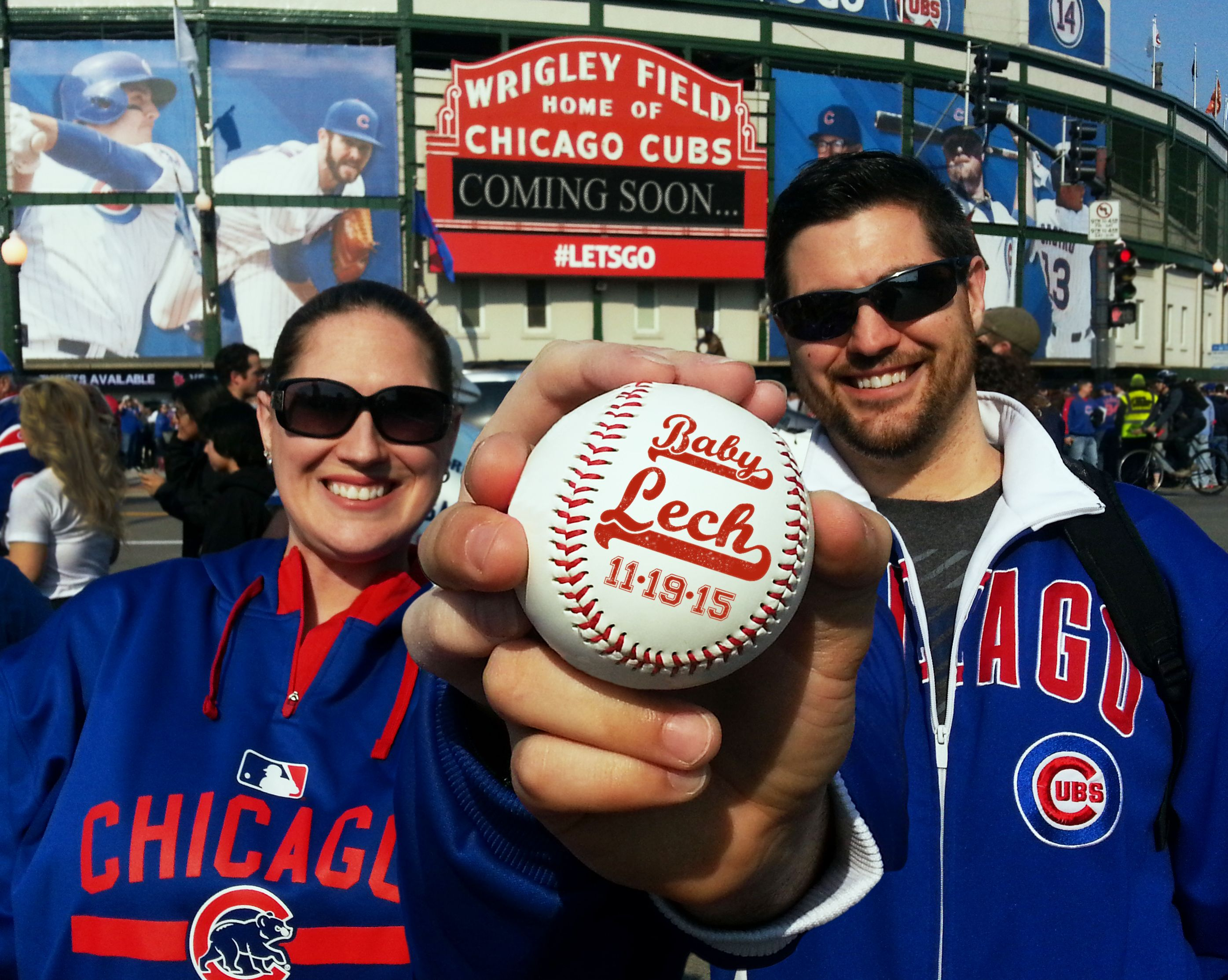 Pregnancy Announcement Chicago Cubs Baseball Wrigley Field Unique