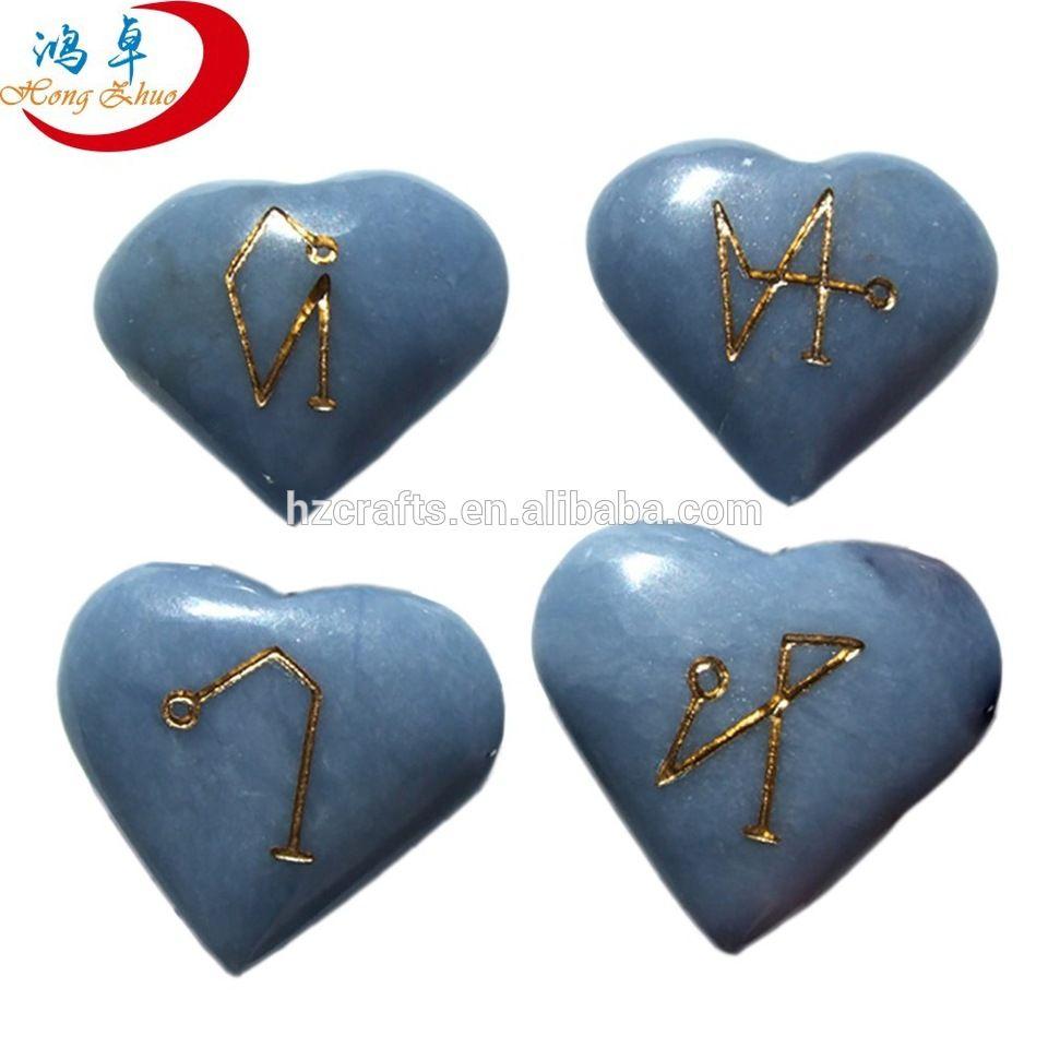 Heart shaped chakra stones set with reiki symbol alibaba heart shaped chakra stones set with reiki symbol buycottarizona Images