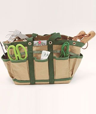 Garden Tool Bags   Large  Handy Canvas Bag With Leather Handles And  Drainage Holes Is Excellent For Garden Chores.