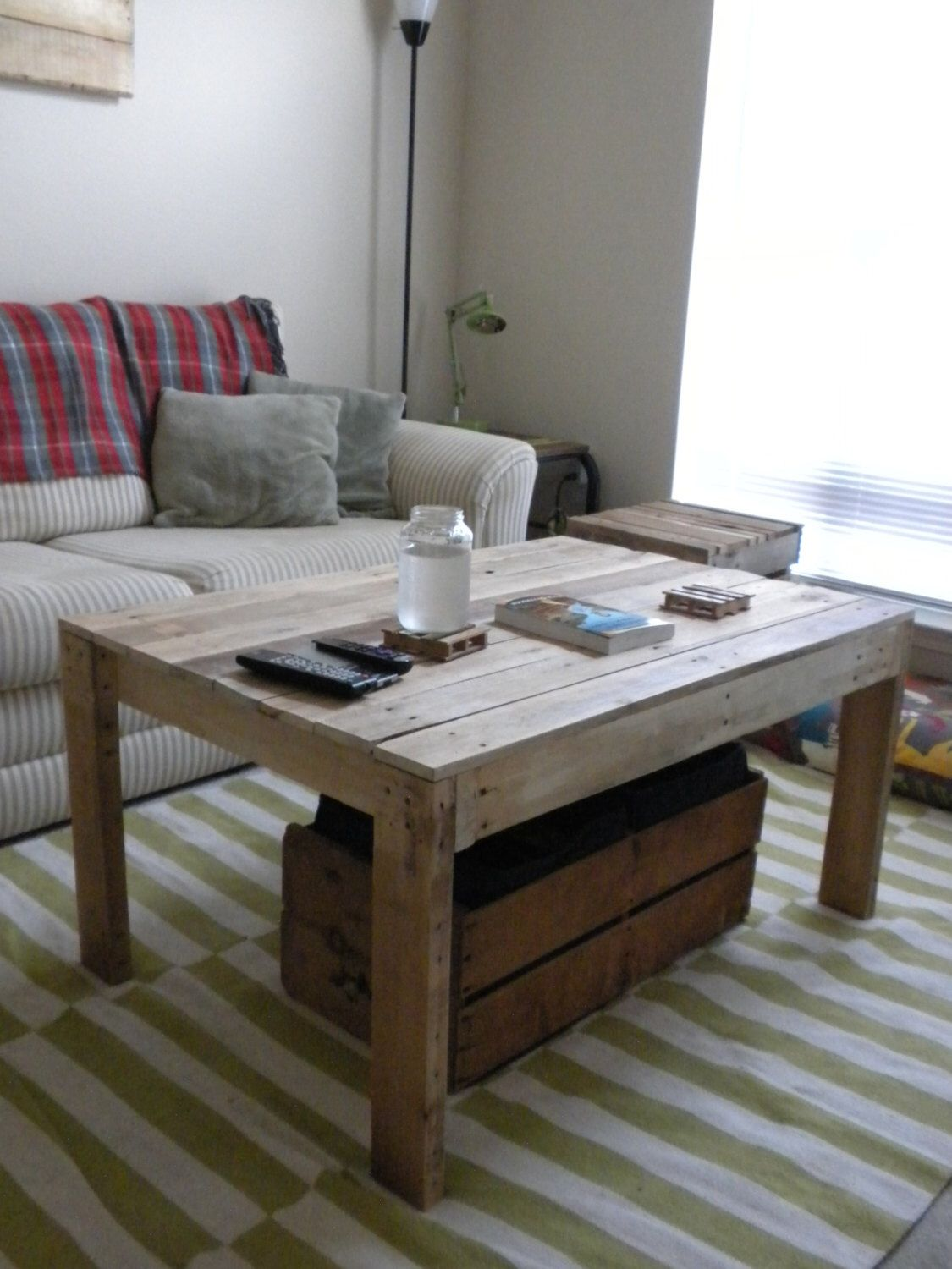 Pine Pallet Coffee Table by HoundDogWood on Etsy https://www.etsy.com/uk/listing/215095952/pine-pallet-coffee-table
