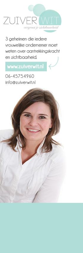 E-zine: 3 geheimen en events voor vrouwelijke ondernemers iedere week in je inbox http://www.zuiverwit.nl/nieuwsbrief