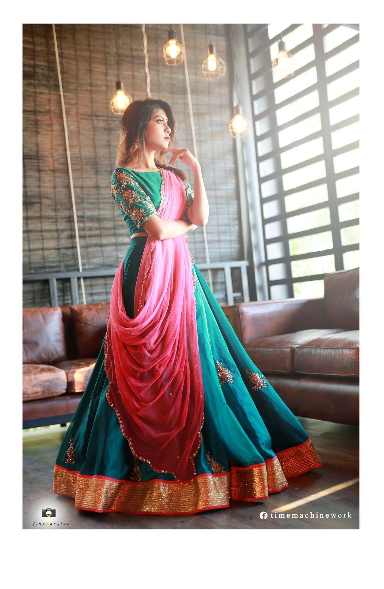 Pin By Affu On Dresses Sarees Lehangas Half Saree Designs Indian Outfits Designer Dresses Indian
