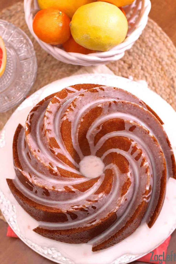 Lemon and Grapefruit Buttermilk Cake