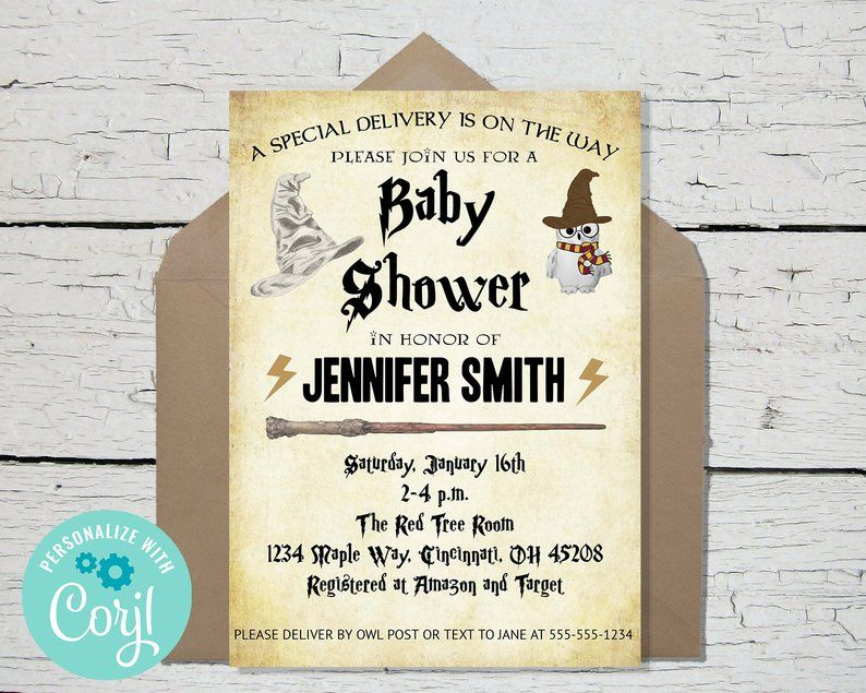 Baby Shower Editable Template Invitation Instant Download