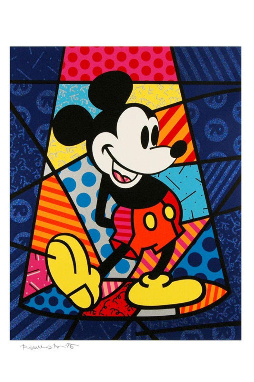 Romero Britto Mickey Mouse Serigraph Romero Britto Britto