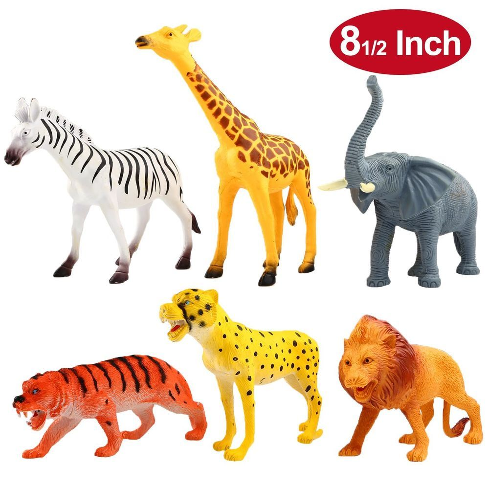 2f5e1ec1ac65a NEW Kids Model Toy Jungle Animal Figures Wild Life Plastic Playset 12  Pieces Set  YeonhaToys