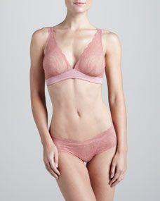 Cosabella Trenta Soft Bra & Low-Rise Hotpants, Pink Terracotta