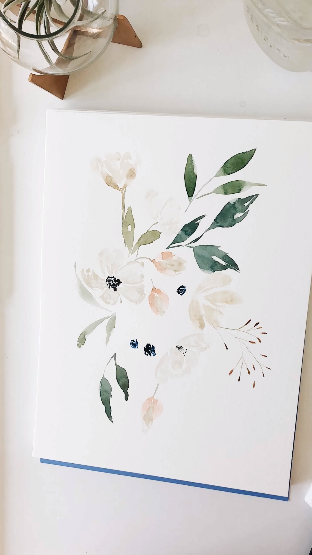 Photo of Loose Floral Watercolor Process Video by Leah Bisch Studio Watercolor Art | wate …
