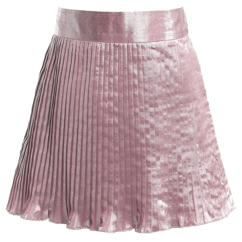 Hucklebones London Pink Metallic Skirt at Childrensalon.com