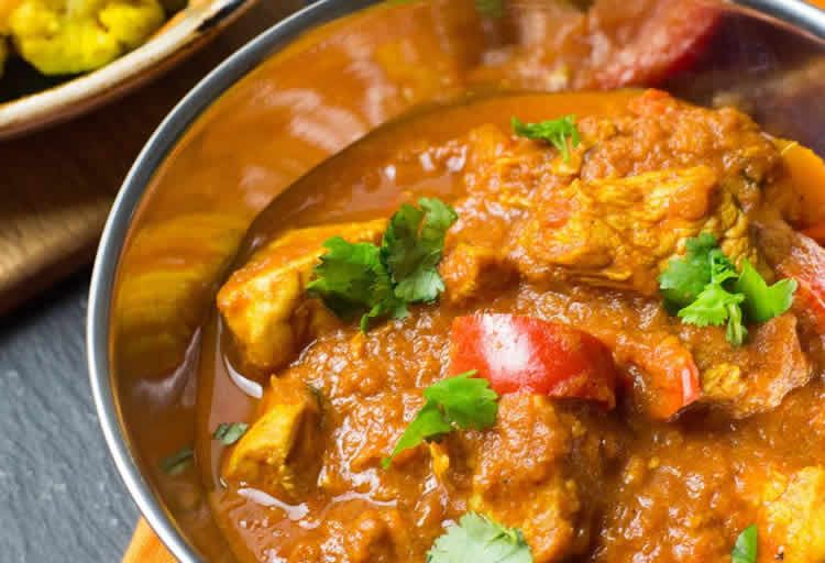Poulet Balti au curry Weight Watchers – de la cuisine indienne.