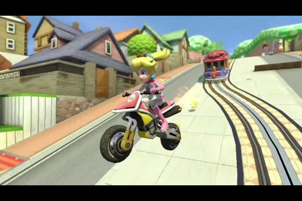 Princess Peach Riding The Bike Mario Kart 8 Mario Kart