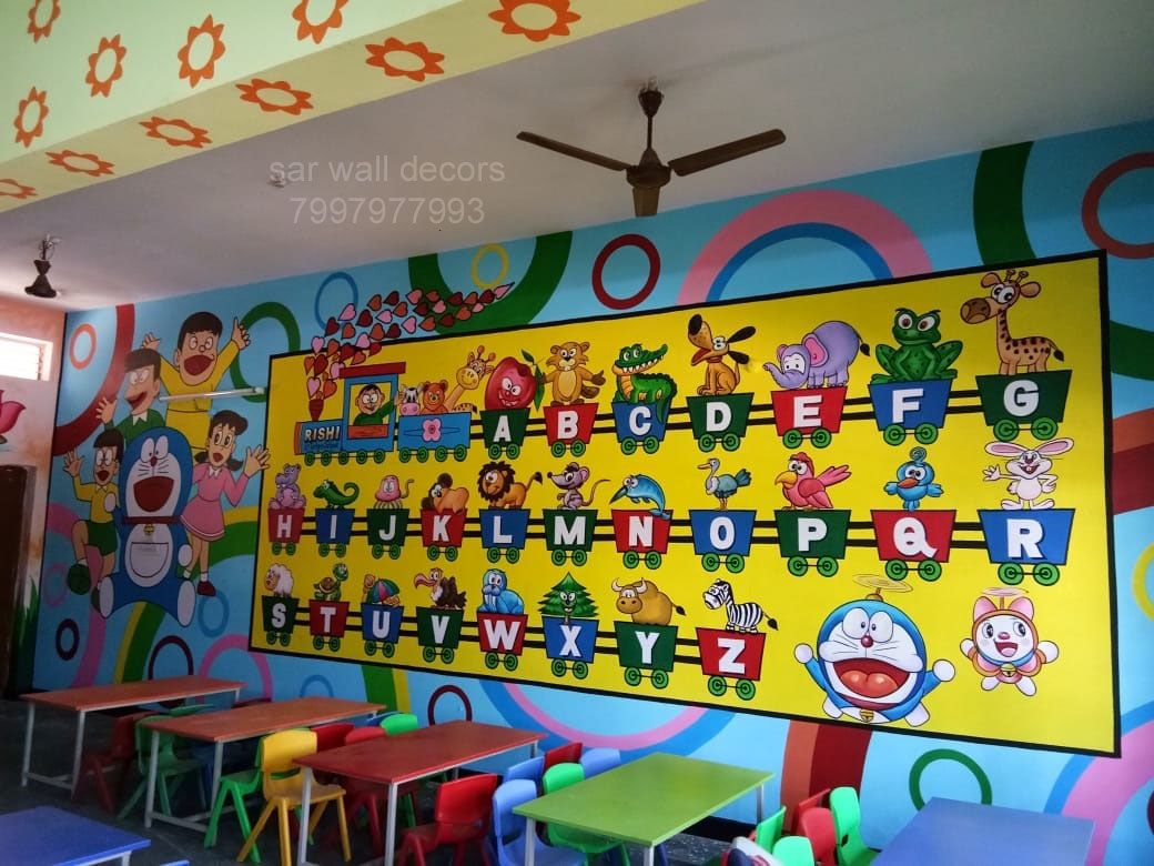 3dwallpainting For Play School Wall Painting For Pre Primary School