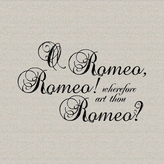 Shakespeare What Is In A Name Quote: Romeo+and+Juliet+Shakespeare+Quote+Script+Wall+by