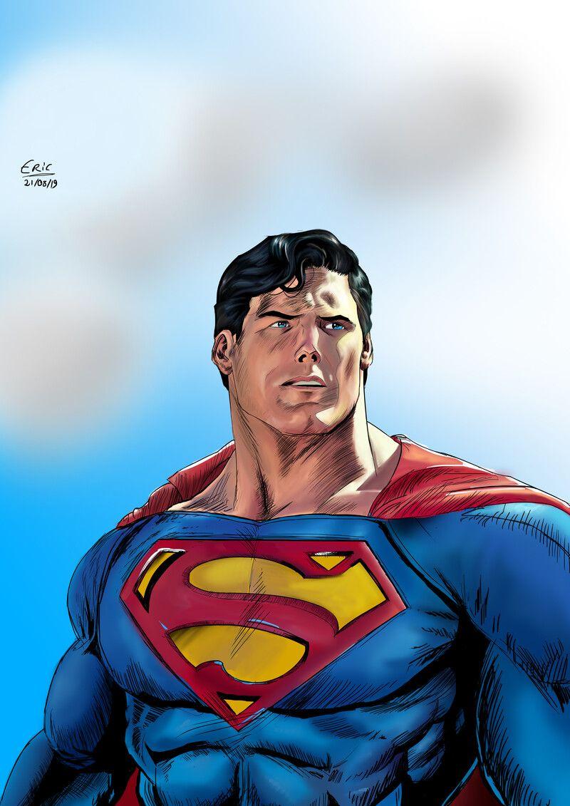 Artstation Christopher Reeve Superman Eric Diniz Christopher Reeve Superman Superman Artwork Superman Art
