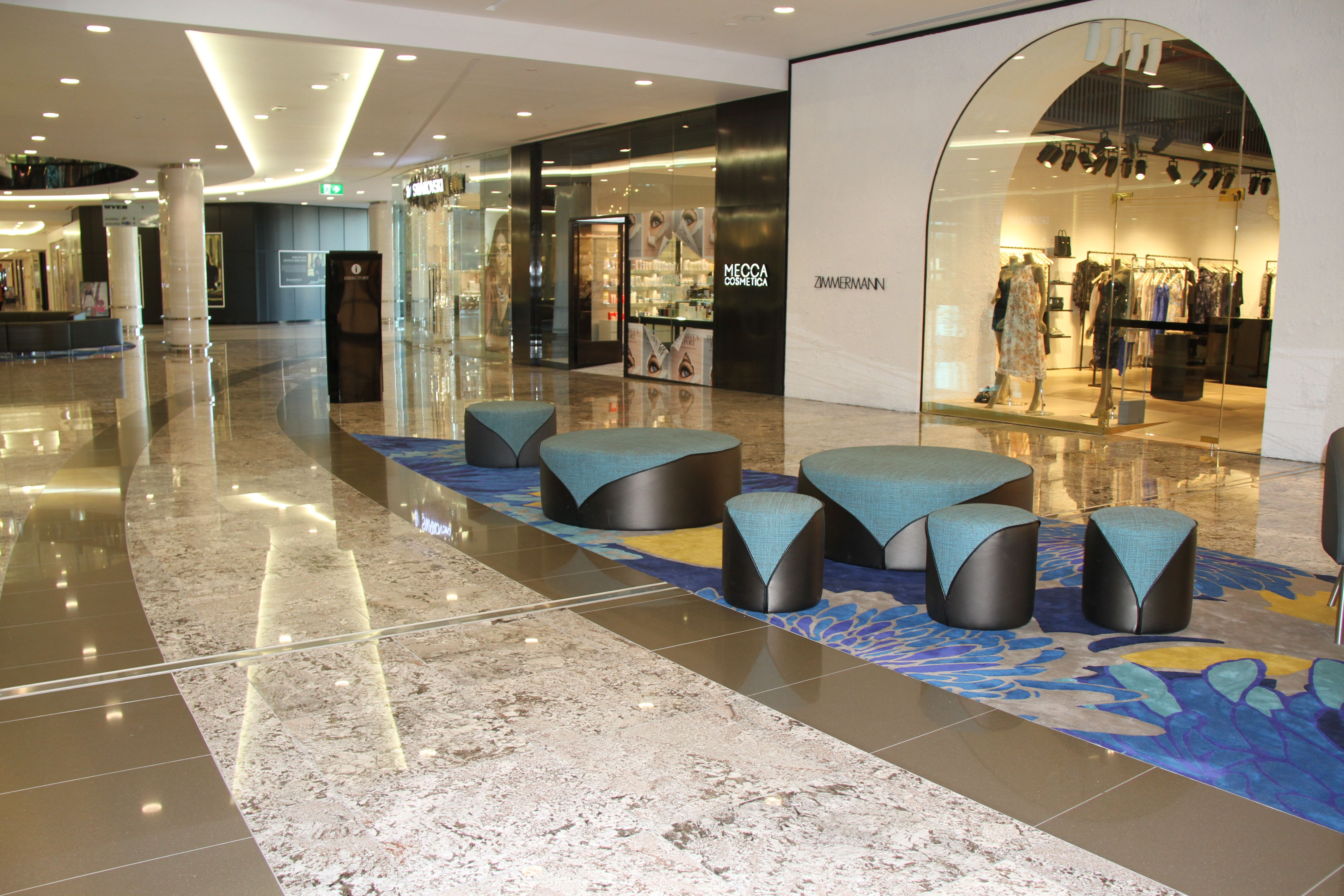 Indooroopilly Shopping Centre Featuring our Yara ottoman