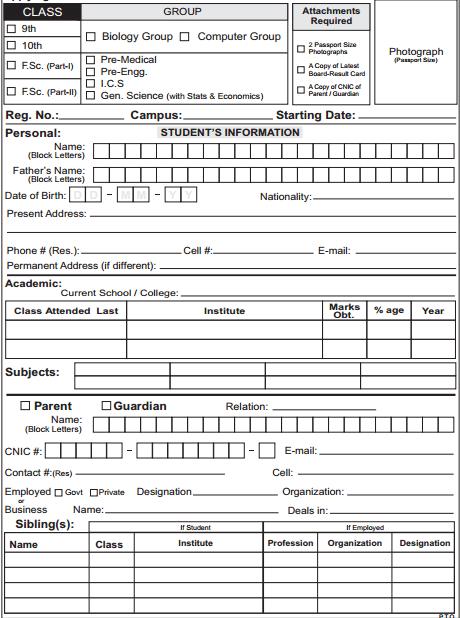 4 Academy Registration Form Templates Registration Form
