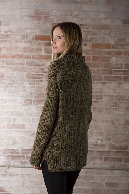 e0151a5d8190a6 An easy to knit and even easier to wear top down pullover with a turtleneck