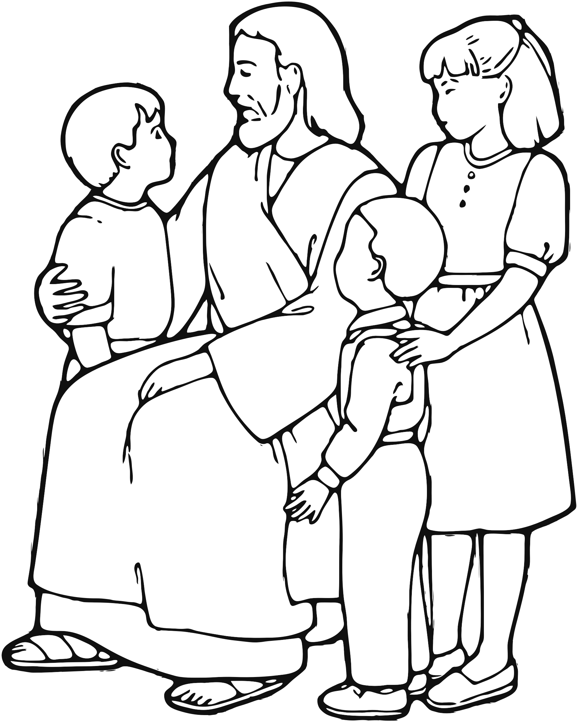 Znalezione Obrazy Dla Zapytania Jesus And Children Jesus Coloring Pages Bible Coloring Pages Lds Coloring Pages