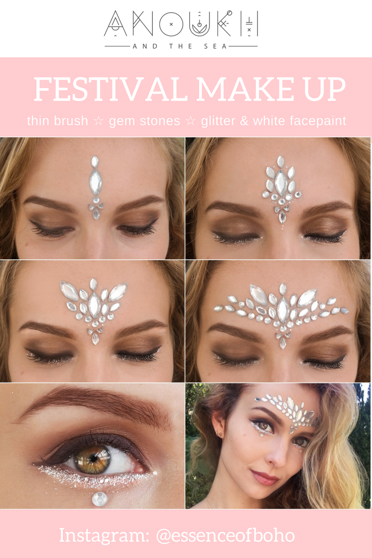 Festival Makeup White Gemstone Festival Look Hair And Makeup