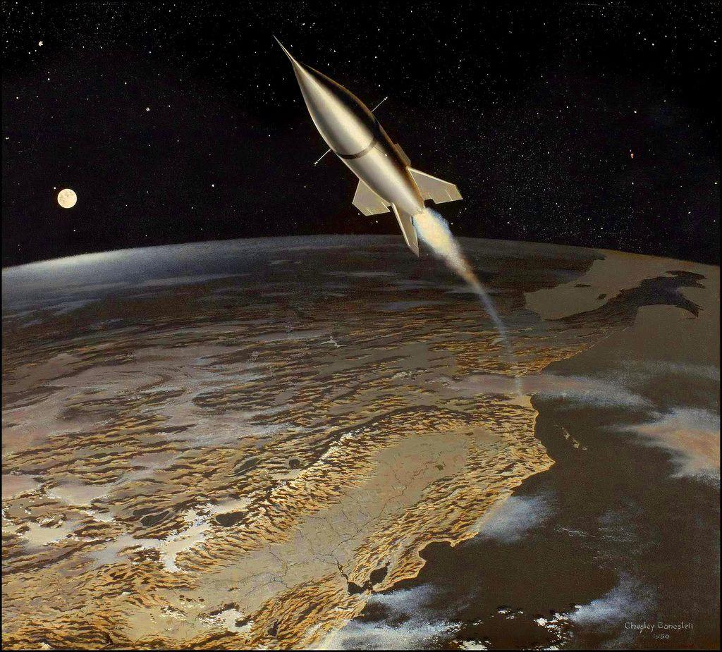 Rare Wonderful 1950s Space Art: Science Fiction Art