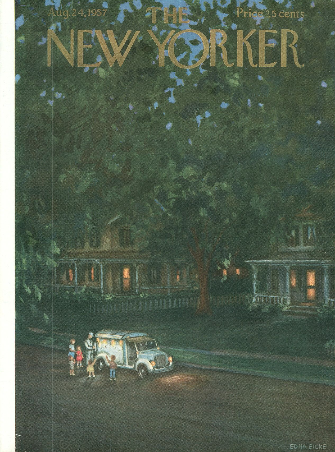 The New Yorker - Saturday, August 24, 1957 - Issue # 1697 - Vol. 33 - N° 27 - Cover by : Edna Eicke