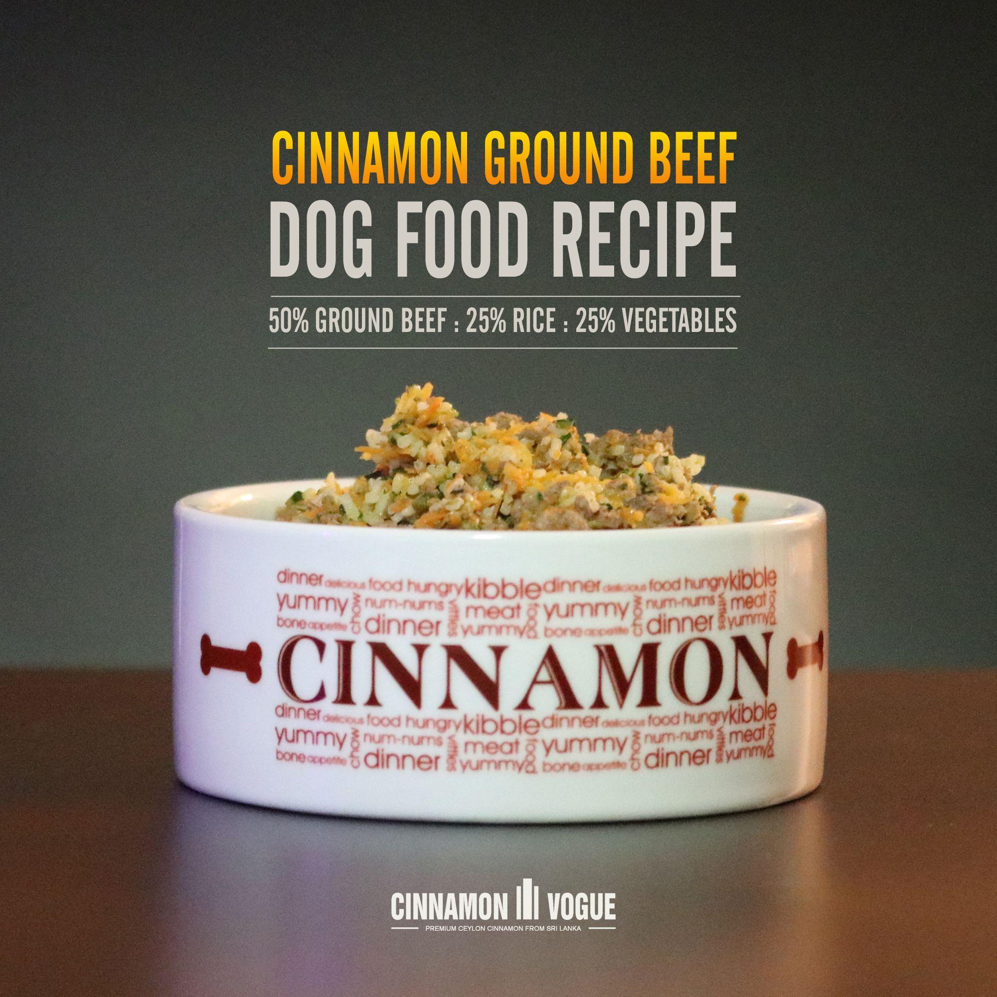 Cinnamon Ground Beef Dog Food Recipe Ground Beef Dog Food Recipe