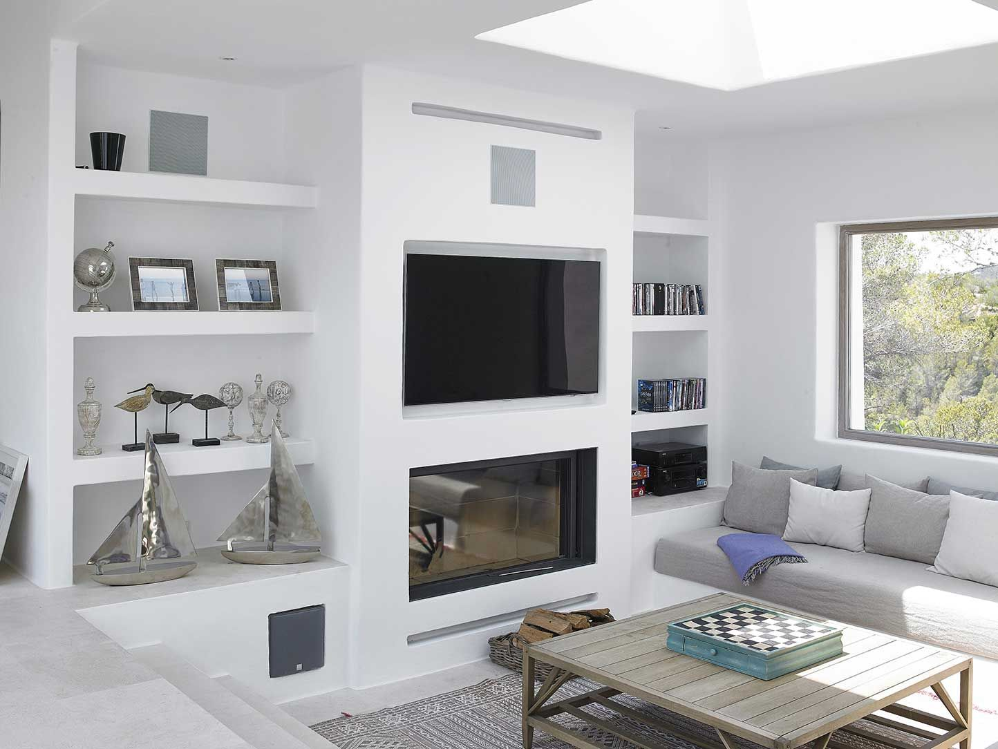 Blakstad Design Consultants Projects New Tv Room Pinterest  # Meuble Tv Integre Cheminee