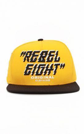 REBEL8 Lightning Strikes Snap-Back Hat - Gold