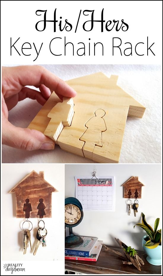 His-Hers Key Rack Tutorial... using a scroll saw! (Reality Daydream)