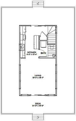 Details about 46x30 House -- 3 Bedroom 2 Bath -- PDF Floor Plan