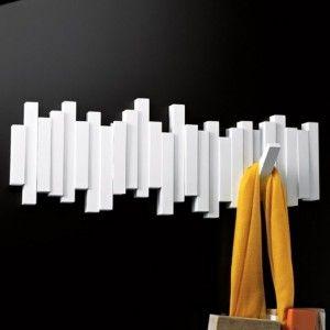 Umbra Hooks Flip 5 patère en blanc Wandhaken patères support crochet