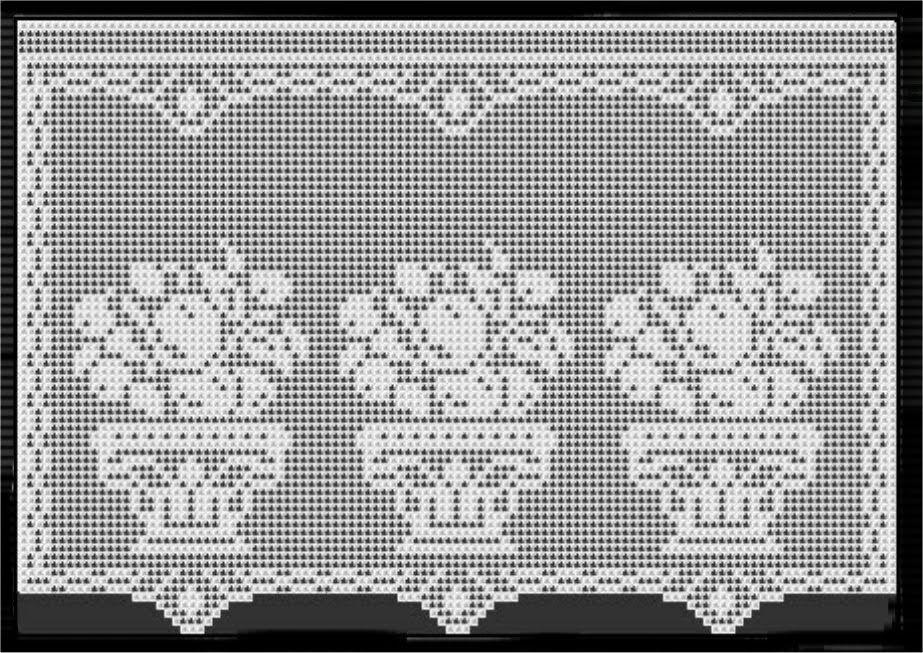 Flower basket crochet curtain filet work lcc mrs with diagram flower basket crochet curtain filet work lcc mrs with diagram ccuart Gallery